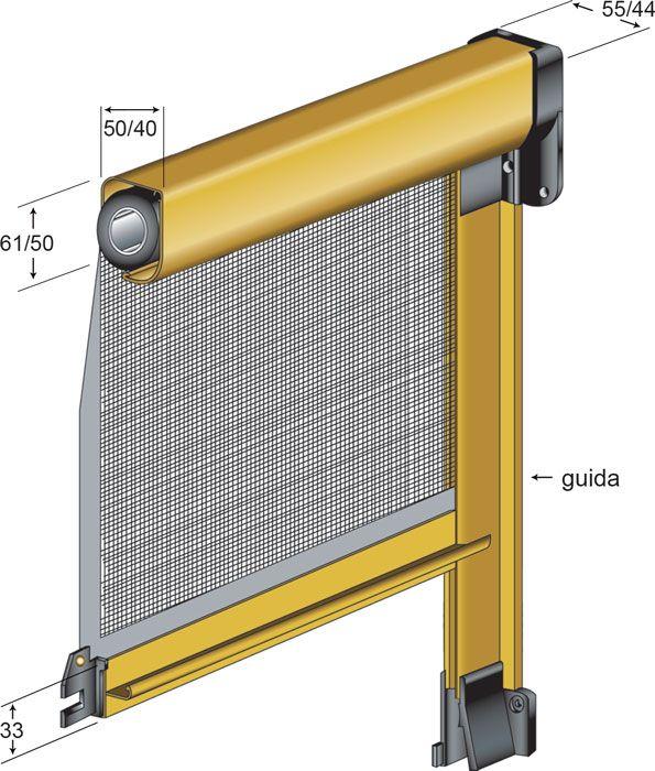 Zanzariera a rullo con catena o molla in alluminio - Zanzariera porta finestra prezzo ...
