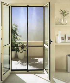 Zanzariera porta finestra a 2 pannelli scorrevoli in alluminio su misura ebay - Costo zanzariera porta finestra ...